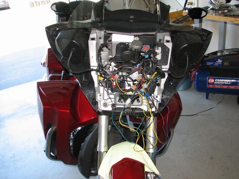 full front detail adding rivco led mirrors to a victory cross country motorcycle  at gsmportal.co